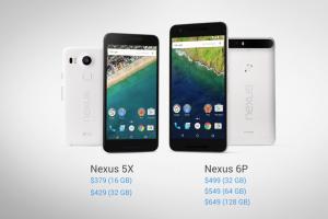 Google представила смартфоны Nexus 5X и Nexus 6P