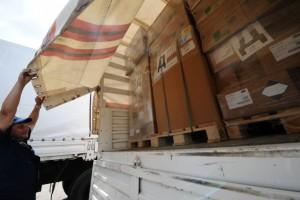 44-й гуманитарный конвой МЧС РФ пересек границу с Украиной