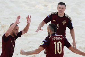 Сборная РФ по пляжному футболу в Москве поборются за победу в Евролиге