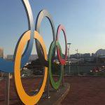 Стела с кольцами - самая популярная достопримечательность Олимпийского парка Рио