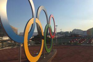 Стела с кольцами — самая популярная достопримечательность Олимпийского парка Рио