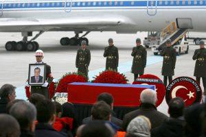В аэропорту Анкары состоялась церемония прощания с Андреем Карловым