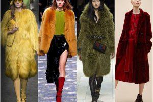 Цветной мех в современной моде