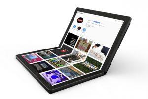 Lenovo показала прототип ноутбука с гибким экраном