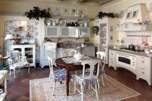 Современный дизайн кухни в деревенском стиле