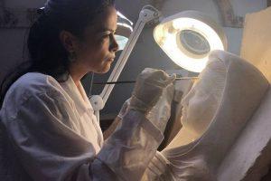 В Национальном музее Дамаска начали восстанавливать барельефы из Пальмиры