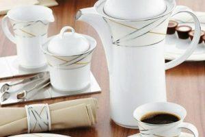 Комплектация кофейных сервизов из фарфора