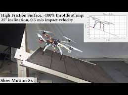 Реверсная тяга помогла дрону сесть на наклонную поверхность