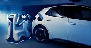 Volkswagen показал прототип робота-заправщика для электромобилей