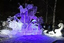 Фестиваль ледовых скульптур «Гиперборея» проходит в Петрозаводске