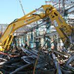 Процесс демонтажа металлоконструкций
