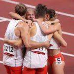 Польша выиграла первую смешанную эстафету 4х400 м