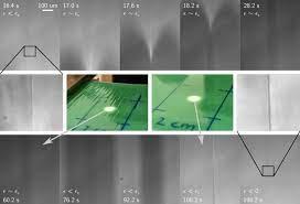 Пиннинг краевой линии вызвал гистерезис формы морщин на полимерном геле
