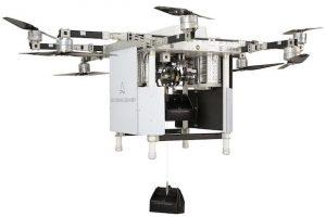 Октокоптер RDSX доставит две посылки за раз и спустит их на тросе